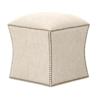 Granite Square Natural Fabric Ottoman