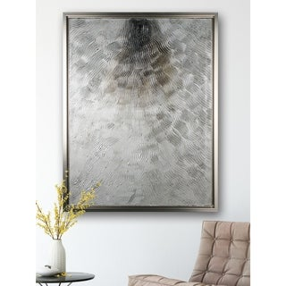 Silver Fire - Framed Textural Canvas