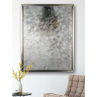 Silver Fire - Framed Textural Canvas|https://ak1.ostkcdn.com/images/products/16796008/P23101215.jpg?impolicy=medium