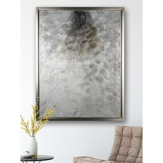 Silver Fire - Framed Textural Canvas