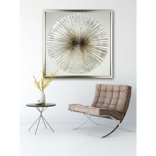 Bronze Wheel - Framed Textural Canvas
