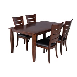 Elly Espresso 5-piece Dining Set