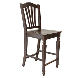 Handmade Four Sturdy Dining Chair Counter Height In Mahogany (Vietnam)