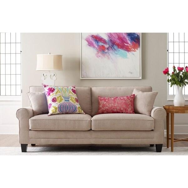 Serta Copenhagen Microfiber 73 Inch Deep Seating Sofa