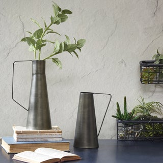 INK+IVY York Black Decorative Vase - Set of 2