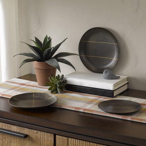 Shop INK+IVY Tribecca Black Round Decorative Platter