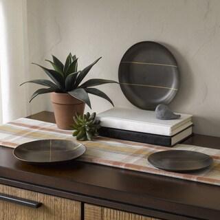 INK+IVY Tribecca Black Round Decorative Platter - Set of 3