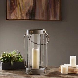 Madison Park Toki Black Iron/ Glass Lantern - Large