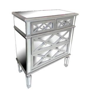 Benzara Silvertone Wood Designer Console Table