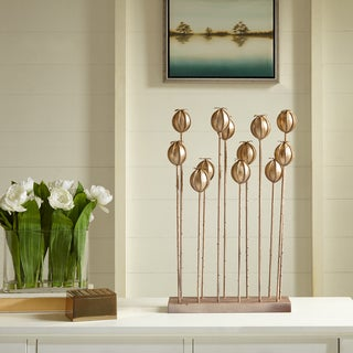 Madison Park Signature Gold Iron Blooming Bud Decor