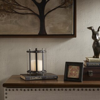 Madison Park Zoey Black Metal Frame Candleholder - Medium