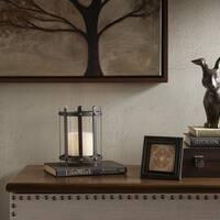 Madison Park Zoey Black Metal Frame Candleholder - Medium