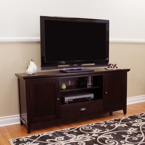 DonnieAnn Lindendale Espresso Wood 60-inch TV Stand