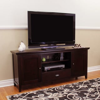 DonnieAnn Lindendale Espresso Wood 60-inch TV Stand