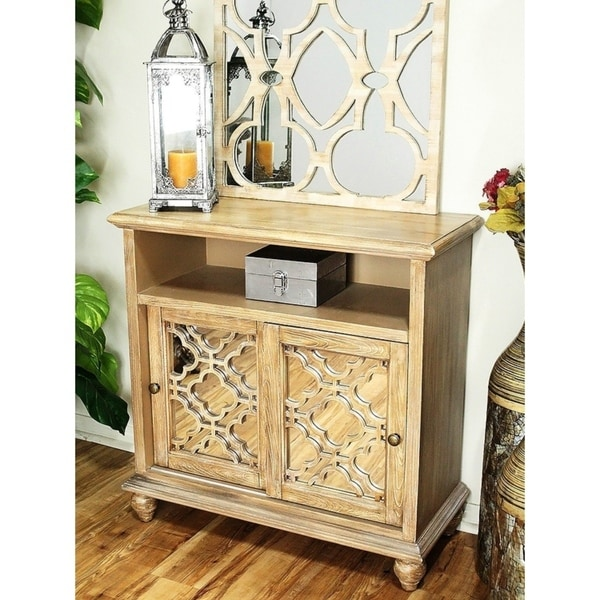 Marrakesh 2-Door Entertainment Cabinet w/ Mirror Inserts