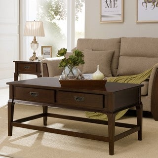 Cherry Wood 2-drawer Coffee Table