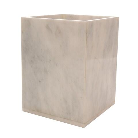 Rembrandt Home Alabaster White Wastebasket