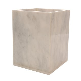 Rembrandt Home Alabaster White Wastebasket