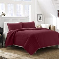 Nautica Maywood Red Cotton Quilt Set
