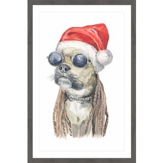 'Rockstar Christmas' Framed Painting Print