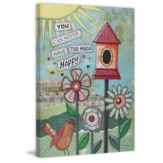 'Too Much Happy' Painting Print on Wrapped Canvas