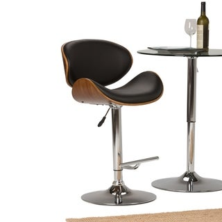 WYNDENHALL Avondale Bentwood Gas Lift Bar Stool