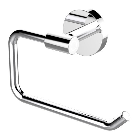 Eviva Round Holdy Toilet Paper Or Towel Holder Brushed Nickel Bathroom Accessories