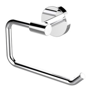 Eviva Round Holdy Toilet Paper Or Towel Holder (Brushed Nickel) Bathroom Accessories