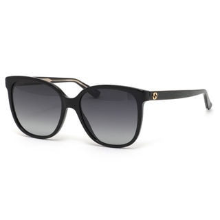 gucci 0010s. gucci gg3819s women\u0027s black frame grey gradient lens sunglasses gucci 0010s