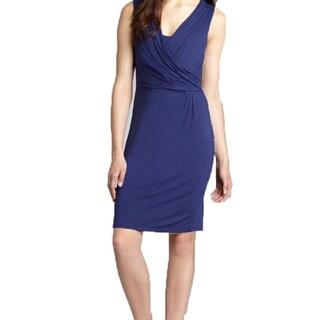 Tahari Size Medium Purple Crossover Dress