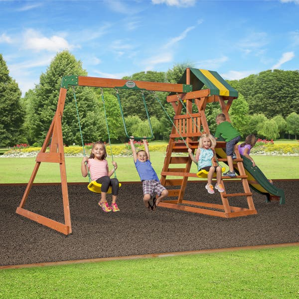 Backyard Discovery All Cedar Madison Swing Set