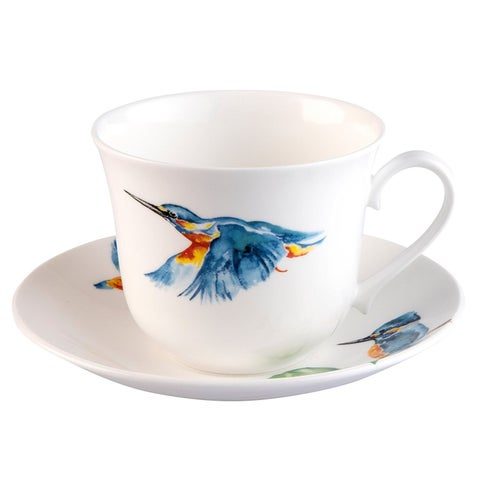 Roy Kirkham Kingfisher Glory Breakfast Cups & Saucers - Set of 2