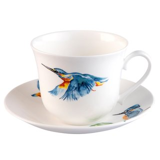 Roy Kirkham Kingfisher Glory Breakfast Cups & Saucers - Set of 2