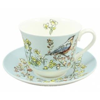 Roy Kirkham Morning Chorus Breakfast Cups Saucers Set