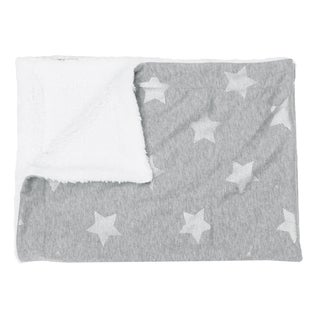 Sophia Foil Stripe Stars Jersey Throw