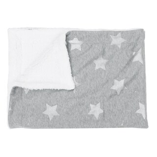 Sophia Foil Stripe Stars Jersey Throw (Option: Cream)