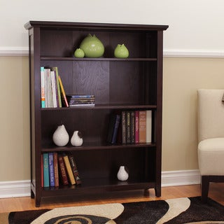 Lindendale Espresso 50-inch High Bookcase
