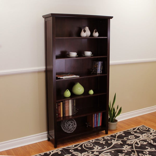 DonnieAnn Lindendale Espresso Wood 72 Inch High Bookcase