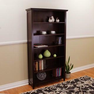 DonnieAnn Lindendale Espresso Wood 72-inch High Bookcase