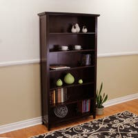 DonnieAnn Lindendale Espresso Wood 72-inch High Bookcase