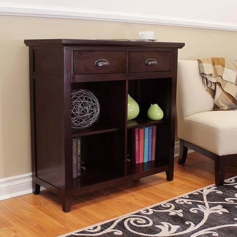 DonnieAnn Lindendale Espresso Wood 36-inch Wide 2-drawer Bookcase