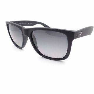 Ray Ban Justin RB4165 Unisex Black Frame Grey Polarized Lenses