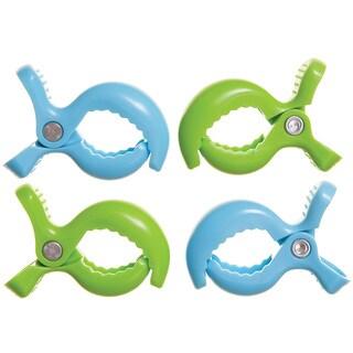 Dreambaby® Strollerbuddy® StrollerClips, 4 Pack Blue, Green