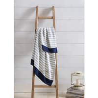 VCNY Home Preppy Stripe 50 x 60-inch Throw