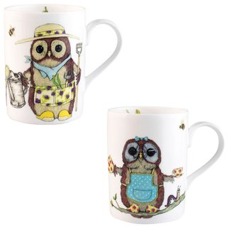 Roy Kirkham Lucy Life's A Hoot Mugs - Set of 6