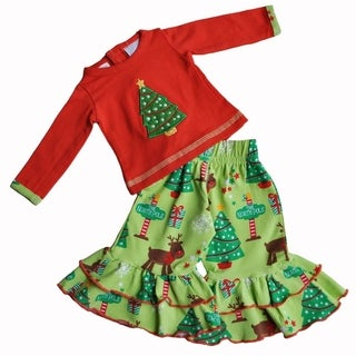 AnnLoren Christmas Tree Holiday Outfit Fits 18-inch Dolls