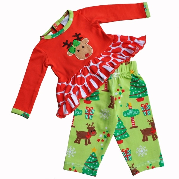 AnnLoren Rudolf Christmas Holiday 2 piece Outfit Fits 18 inch Dolls