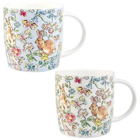 Roy Kirkham Sophie Morning Meadow Rabbits Mugs - Set of 6