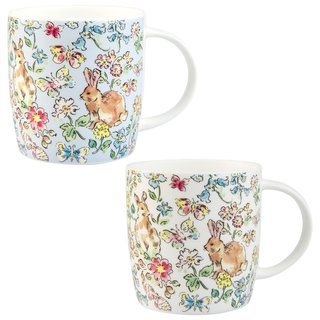 Roy Kirkham Sophie Morning Meadow Rabbits Mugs - Set of 6