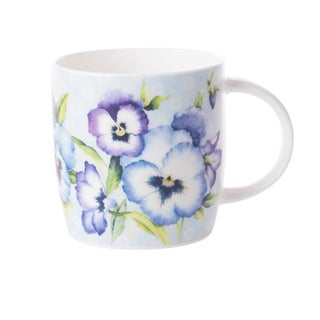 Roy Kirkham Sophie Pansy Garden Mugs - Set of 6